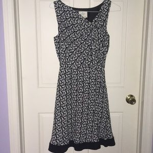 Kate Spade Bird Dress Black and White size…